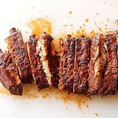 Memphis Dry Ribs A full sparerib is the whole rib including the brisket. Memphis barbecue often calls for St. Louis-style ribs, which are the spareribs with the brisket removed.