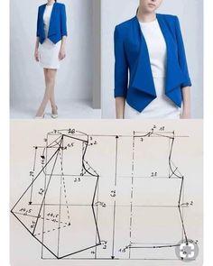 Coat Patterns, Dress Sewing Patterns, Clothing Patterns, Girls Dresses Sewing, Pattern Sewing, Blazer Pattern, Jacket Pattern, Fashion Sewing, Diy Fashion