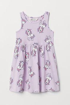H&M Sleeveless Jersey Dress - Purple Little Girl Summer Dresses, Dresses Kids Girl, Little Girl Outfits, Toddler Outfits, Kids Outfits, Kids Clothes Sale, Clothes For Women, Toddler Girl Style, Tutus For Girls