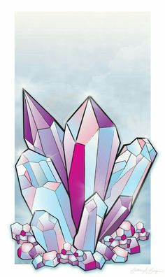 how to draw crystals Painting Inspiration, Art Inspo, Crystal Drawing, Crystal Tattoo, Crystal Cluster, Quartz Cluster, Drawing Reference, Art Lessons, Painting & Drawing