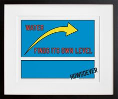 20x200 | WATER FINDS ITS OWN LEVEL HOWSOEVER, by LAWRENCE WEINER ($50-100) - Svpply