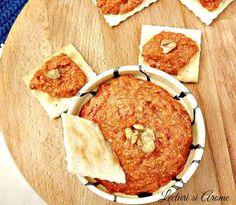 Pasta de ardei copti cu nuca (Muhammara) Vegetarian Recipes, Healthy Recipes, What A Beautiful Day, Romanian Food, Spice Blends, Vegan Foods, Deserts, Spices, Dairy