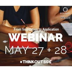 From Inspiration to Application  May 27 & 28*, 2015  Session A: May 27 at 10am MDT Session B: May 28 at 8pm MDT One of the most challenging and important steps in biomimicry is the translation of biological strategies into design strategies that can be applied to your design. In this webinar we'll provide guidance for effectively and accurately doing so.