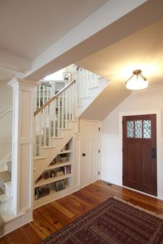 Stair Bookcase diy under stairs shelves with tutorial | home decor | pinterest