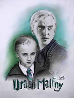 """draco malfoy by karlyilustraciones I think he (and the others) were little cuties in the first film, and then if the last your just like... """"THEVE GROWN UP! NOOOOOOOOOOOOOO"""""""
