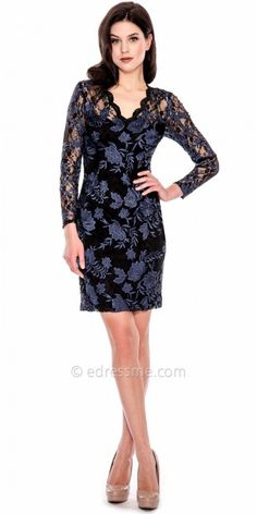 Sparkling Pearl Embellished Little Black Cocktail Dress by Decode ...