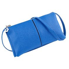Myymee New Arrival Casual Leather Zipper Clutch Wallet for Women Lady Long Purse Bag for Cell phone Blue ** You can get additional details at the image link.