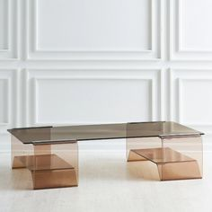 Eclectic Coffee Tables, Modern Glass Coffee Table, Lucite Coffee Tables, Coffe Table, Glass Dining Table, Coffee Table Design, Modern Table, Dining Tables, Side Tables