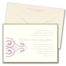Thermo Stately Scrolls Layered Invitation