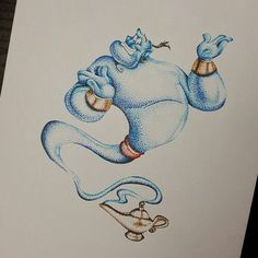Aladdin genie tattoo More