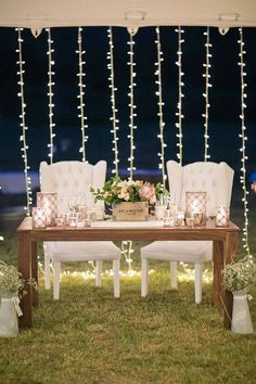 Love this sweetheart table with twinkle light backdrop - one detail from this pastel festival style wedding (Jack & Jane Photography) Lodge Wedding, Rustic Wedding, Trendy Wedding, Summer Wedding, Luxury Wedding, Sweetheart Table Decor, Wedding Reception Decorations, Reception Ideas, Wedding Ideas