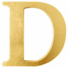 Gold decorative letters (9 inches). $14.50 at Chapters Indigo