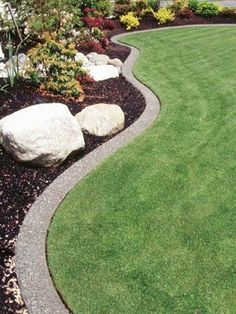 Garden Edge Ideas increase the beauty of your lawn by adding garden edging that works well with the style I Like The Neat And Tidy Edge Edge With Concrete