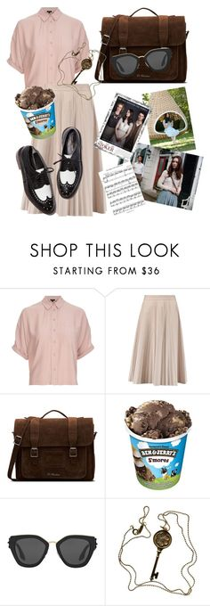 """""""india stoker (stoker)"""" by naditamonzterinc ❤ liked on Polyvore featuring Topshop, Joseph, Dr. Martens, Prada and Tiffany & Co."""