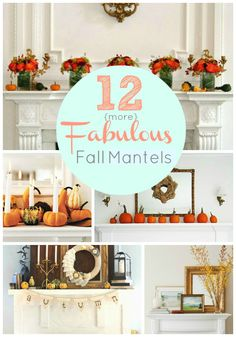 There's a great mantel with some type of fall fabric triangles hanging down the mantel ... I like that