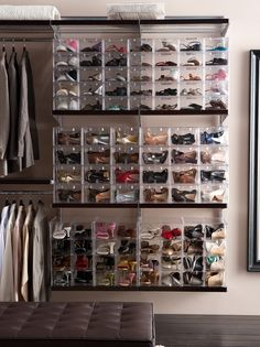 6 Enthusiastic Hacks: Floating Shelf Ikea Apartment Therapy floating shelves next to tv entertainment units.Small Floating Shelf Mirror floating shelves for tv inspiration.Floating Shelves Vanity Home Office. Master Closet, Closet Bedroom, Closet Space, Closet Storage, Closet Organization, Organizing, Organization Ideas, Tv Storage, Bike Storage