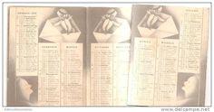 calendario bertelli  anno 1938