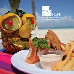 ¿Necesita relajarse más? ¡Pruebe la piña Pai Ai, su sabor le sorprenderá! / Need to get more relaxed? Try the Pai Ai pineapple, the taste is amazing!  Beachscape Kin Ha Cancún.