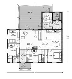Future House, House Plans, Floor Plans, Layout, Flooring, How To Plan, Building, House Ideas, Trendy Tree