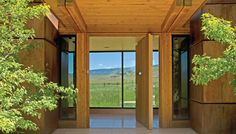 Tennican Residence Entrance by Ward + Blake Architects, Jackson, WY