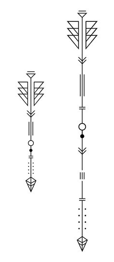 Indianoi Geometric Arrow Tattoo, Arrow Tattoo Design, Geometric Tattoo Design, Triangle Tattoos, One Word Tattoos, Mini Tattoos, Cute Tattoos, Tattoos For Guys, Ankle Tattoo Small