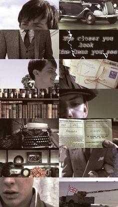 """justnarnianthings: """"Edmund Pevensie as Albert A. Scrubb, British spy/agent """""""