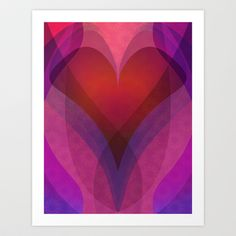 Coeur Art Print by Tracey Chan Design