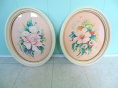 Pink Floral PRINTS by Georgia B Caldwell  2 by OurVintageHouse, $38.00