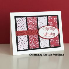 Sherrie Robinson - Valentine's Day card featuring Stampin' Up! 2017 Occasions Catalog products.