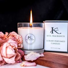 KITA Fragrances Scented Candle Pure Essential Oils, Essential Oil Diffuser, Scented Candles, Candle Jars, Aroma Diffuser, Fragrances, Perfume, Pure Products, Boudoir