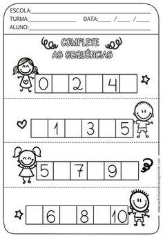 Task Shakti - A Earn Get Problem Atividade Pronta - Sequncia Numrica Preschool Writing, Numbers Preschool, Preschool Learning Activities, Preschool Printables, Teaching Kids, Kindergarten Math Worksheets, Alphabet Worksheets, Pre Writing, Math For Kids