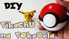 DIY: Como Fazer o Pikachu e a Pokebola - POKÉMON Tutorial Biscuit / Polymer Clay