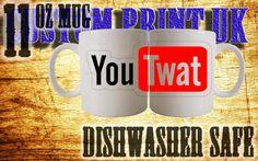 Youtube parody Youtwat style novelty custom print mug/cup