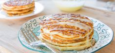 Cinnamon roll pancakes - OK, where do I start ? First of all, this is both a breakfast and a dessert recipe. It is really sweet on its own so you should not