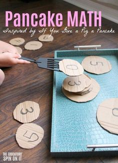 Math games 547328160958390732 - Pancake Math Activity for Preschoolers. Hands on math game for your child to play after reading the book If You Give a Pig a Pancake by Laura Numeroff. Math Activities For Kids, Math For Kids, Preschool Learning, In Kindergarten, Preschool Activities, Montessori Preschool, Montessori Elementary, Math Activities For Preschoolers, Leadership Activities