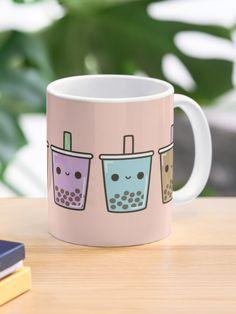 """Bubble tea"" Mug by peppermintpopuk   Redbubble Bubble Tea, Tea Mugs, Mug Designs, Custom Mugs, Sell Your Art, Dishwasher, Bubbles, Wraparound, Suit"