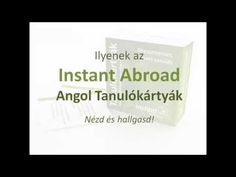 Instant Abroad Angol Tanulókártyák [AngolNyelvTanitas.hu] English Language, Cards Against Humanity, Education, Youtube, English People, English, Onderwijs, Learning, Youtubers