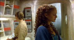 Episode II. I think this is a deleted scene, it's in the book Star Wars Episode two by R.A Salvatore.