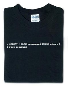 From a Wi-Fi Detector T-Shirt to the famous T-Equalizer, some really funny geek t-shirts you can actually buy online. Funny One Liners, Programmer Humor, Tech Humor, Sql Server, Love My Job, Really Funny, Community Manager, Funny Tshirts, Shirt Designs