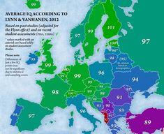 Cât de inteligenţi sunt românii în comparaţie cu restul europenilor. Harta IQ-ului din statele UE | adevarul.ro