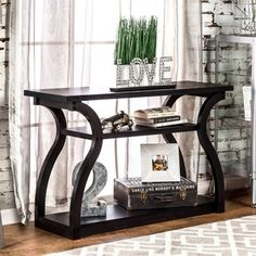 Shop for Furniture of America 'Sara' Black Finish Console Table. Get free…