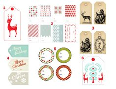 Free Christmas Gift Tag Printables I shared these links with a coworker and thought I'd pop 'em on Tumblr. Holiday Reindeer Tag ...