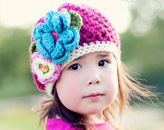 Girls Hat, Slouchy Beanie in Beet, Slouch Hat, Baby,Toddler, Girls