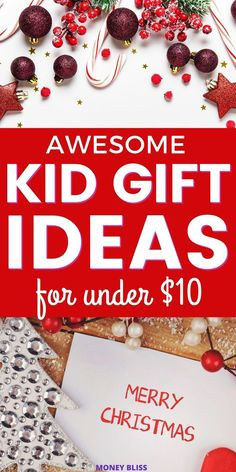 The best Christmas gift ideas for kids. Give cheap presents that are under $10. These unique gift ideas are perfect. Plenty of ideas for gifts for boys, for girls, toddler, elementary, preteen and teen. This list makes great stocking stuffer ideas! Every child will be happy with simple and fun presents! Click here to stay under your Christmas budget this year! Cool Gifts For Kids, Gifts For Boys, Christmas On A Budget, Best Christmas Gifts, Merry Christmas, Cheap Presents, Presents For Boys, Cheap Stocking Stuffers, Christmas Worksheets