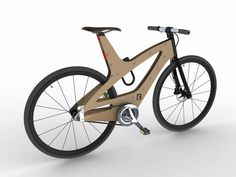 Concept bike made of plywood and aluminum parts.