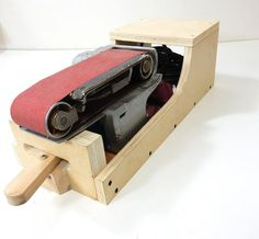 Jax Design: Belt Sander Stand -- Can Sit In 3 Positions