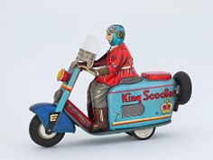 King Scooter, STS Japan 1955 (lord enfield) Tags: japan honda toy tin vespa fifties y scooter moto motorcycle tintoy sts yonezawa blechspielzeug