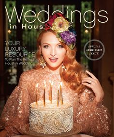 We are SO excited to announce our 30th anniversary issue is finally here! You're going to love what you see. Pick up your copy at local newsstands now!  Photo: Larry Fagala | Dress: Saks Fifth Avenue | Custom Velvet Headpiece: MilliStar | Cake: Susie's Cakes & Confections | Location: Chateau Carnavon | Styling: Summar Salah | Hair: Dennis Clendennen, Assistant: Anh Thu Bui | Makeup: VCI Artist Victoria Callaway | Assistant: Devin Harvey