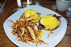 Eggs Benedict and Potato Sticks - Red Feather Lounge, Boise