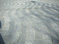 Montgomery Square, Canary Wharf, London - Wavy Stone Paving